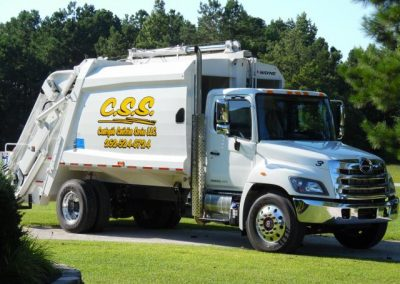 Country Side Sanitation White Truck